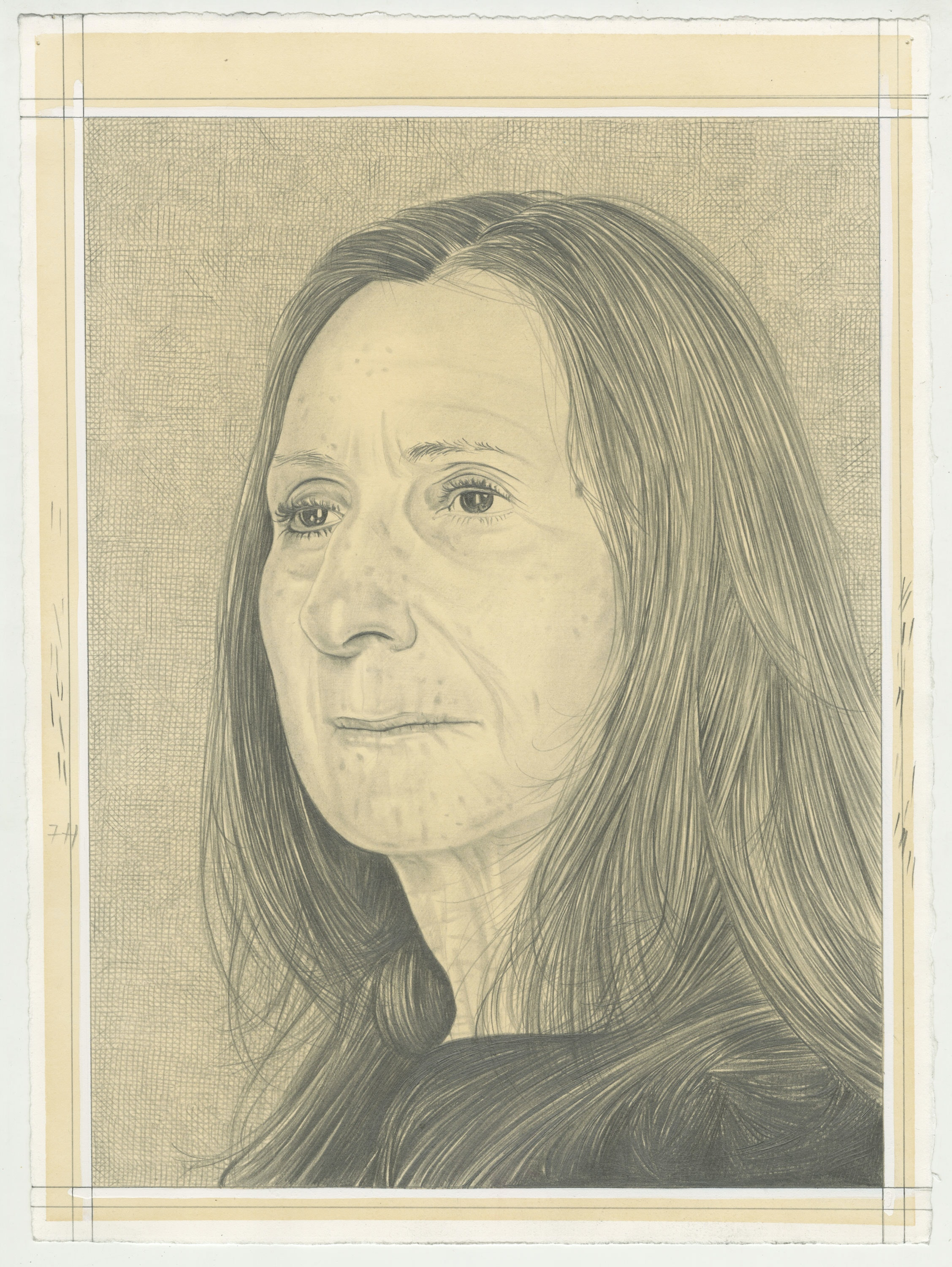 Portrait of Norma Cole, pencil on paper by Phong H. Bui.