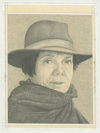 Portrait of Graciela Iturbide, pencil on paper by Phong H. Bui.