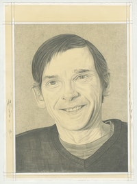 Portrait of Merlin James. Pencil on paper by Phong H. Bui.