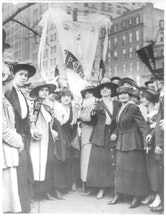 <i>Garment workers parading on May Day, New York City, 1916. Photo from George Grantham Bain Collection (Library of Congress).</i>