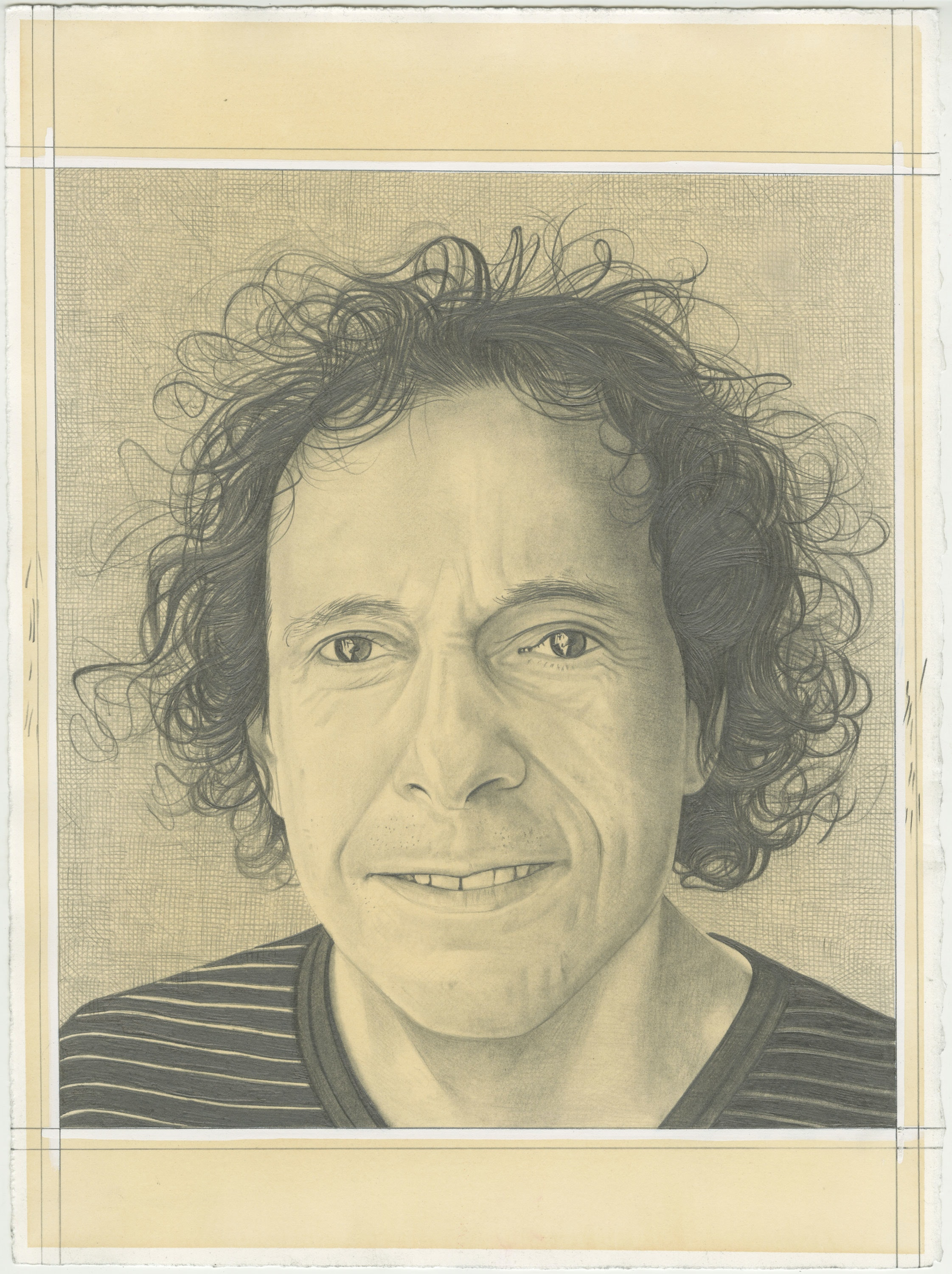Portrait of Craig Kalpakjian, pencil on paper by Phong H. Bui.