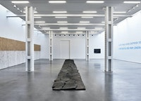 Installation view: <em>Richard Long: FROM </em>A ROLLING STONE <em>TO NOW</em>, Lisson Gallery, New York, 2020. © Richard Long. Courtesy Lisson Gallery.