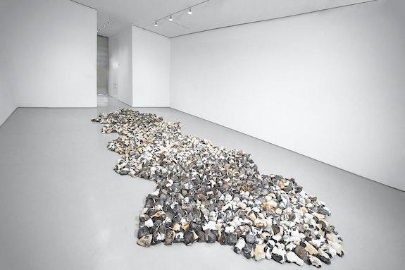 Installation view: <em>Richard Long: MUDDY HEAVEN</em>, Sperone Westwater, New York, 2020. Courtesy Sperone Westwater, New York. Photo: Robert Vinas, Jr.