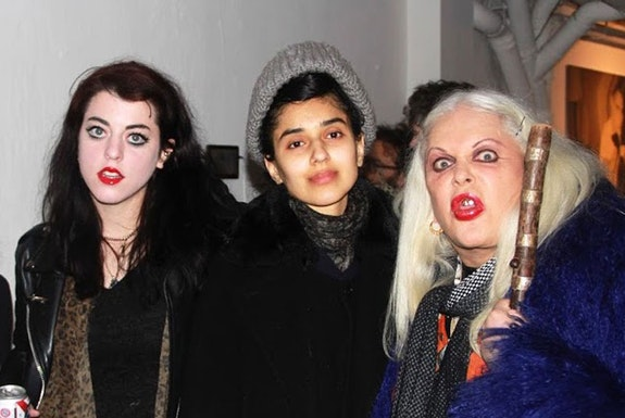 Leigha Mason, Roxy Farman, and Genesis Breyer P-Orridge. Courtesy the author.
