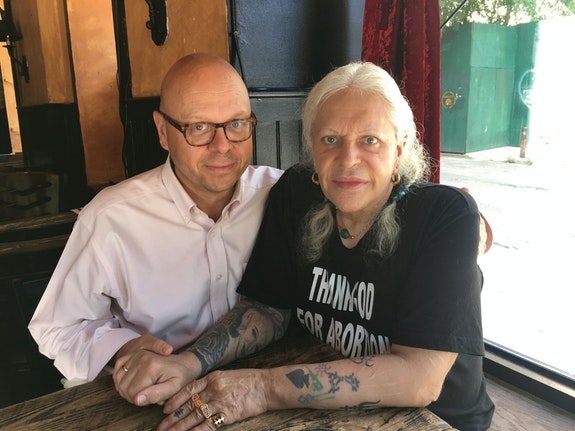 Carl Abrahamsson and Genesis P-Orridge. Photo: Vanessa Sinclair.