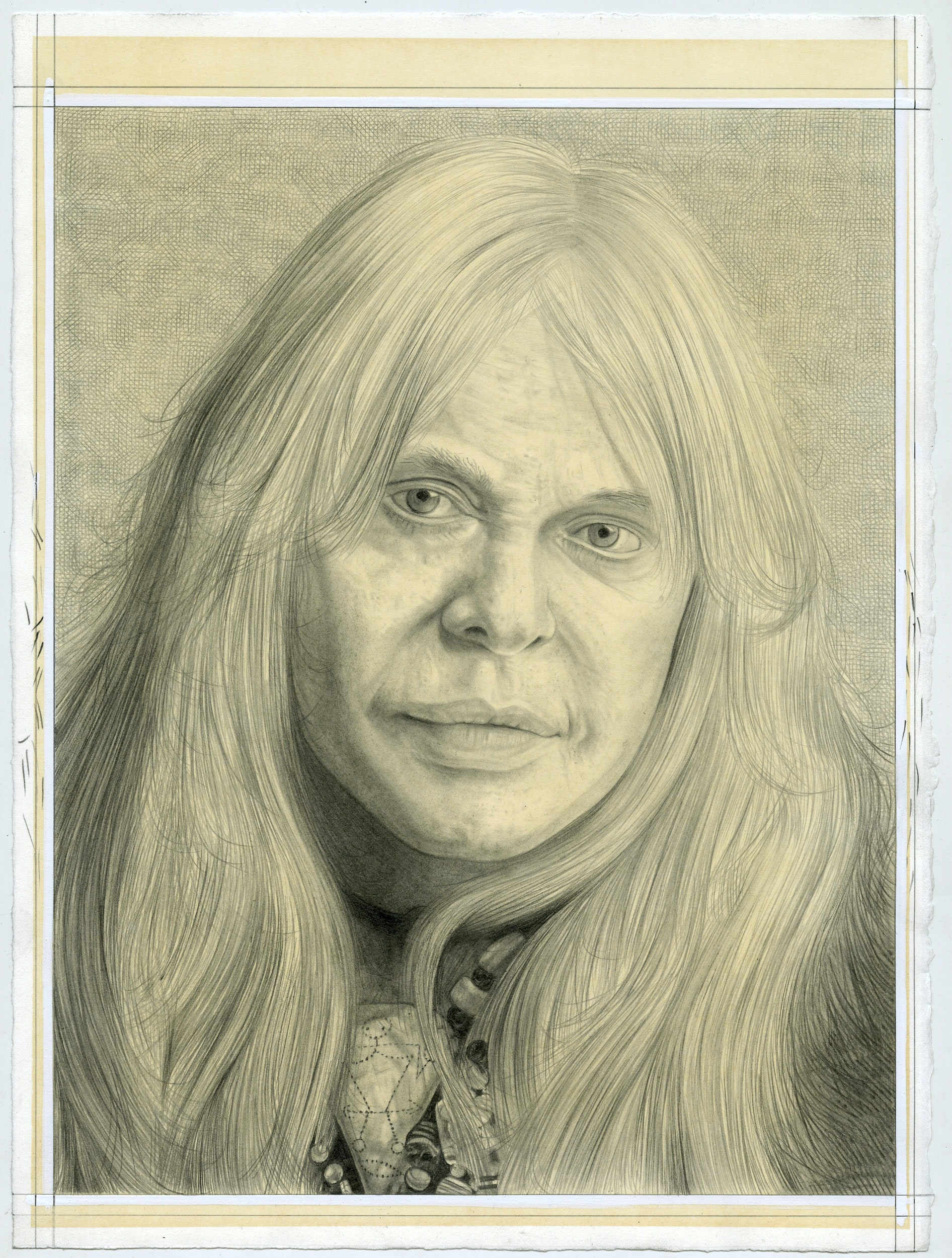 Portrait of Genesis Breyer P-Orridge, pencil on paper by Phong H. Bui.