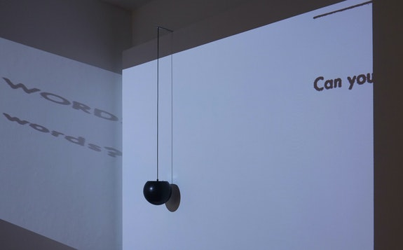 Jesse Chun, <em>voiceless consonants</em>, 2019, mal-configured airport speaker, steel bracket, 2 minute sound, dimensions variable, courtesy of the artist, installation view at 1708 gallery.