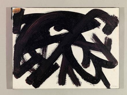 Pierre Soulages, <em>Brou de noix</em>, 48,2 x 63,4 cm, 1946. Rodez, Musée Soulages © Archives Soulages  © ADAGP, Paris 2019.