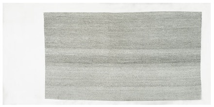 Guillermo Kuitca, <em>Del 1 al 30000</em>, 1980. Ink on Canvas, 39 1/4 x 78 3/4 inches. Private Collection, Buenos Aires. © Guillermo Kuitca. Courtesy the artist and Hauser & Wirth.</ewm>
