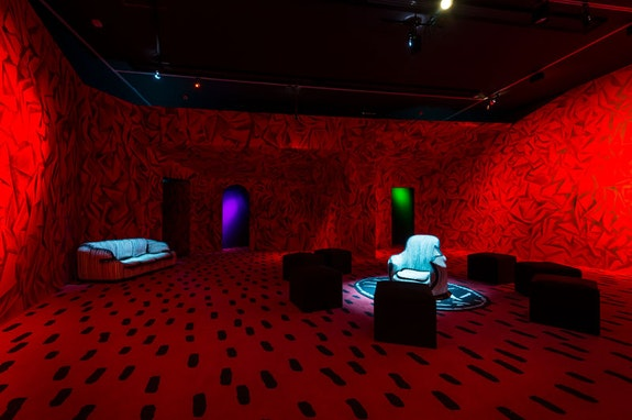Guillermo Kuitca, <em>David's Living Room Revisited</em>, 2014–2020. An installation by Guillermo Kuitca created from an installation by David Lynch, with the participation of Patti Smith. Collection Fondation Cartier pour l'art contemporain. © Guillermo Kuitca. Courtesy the artist and Hauser & Wirth.