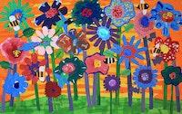 Group Project, Kindergarten, PS222 Queens, Studio NYC Artist Instructor: Tamara Sandy.