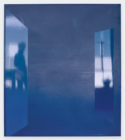 Kate Shepherd, <em>Eavesdropper</em>, 2019. Enamel on panel, 52 x 46 inches. Courtesy Galerie Lelong & Co., New York.