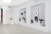 Installation view: <em>Hadi Fallahpisheh and Phoebe d'Heurle: What a Fuck and What the Fuck</em>, Soloway, Brooklyn, 2020. Courtesy Soloway.