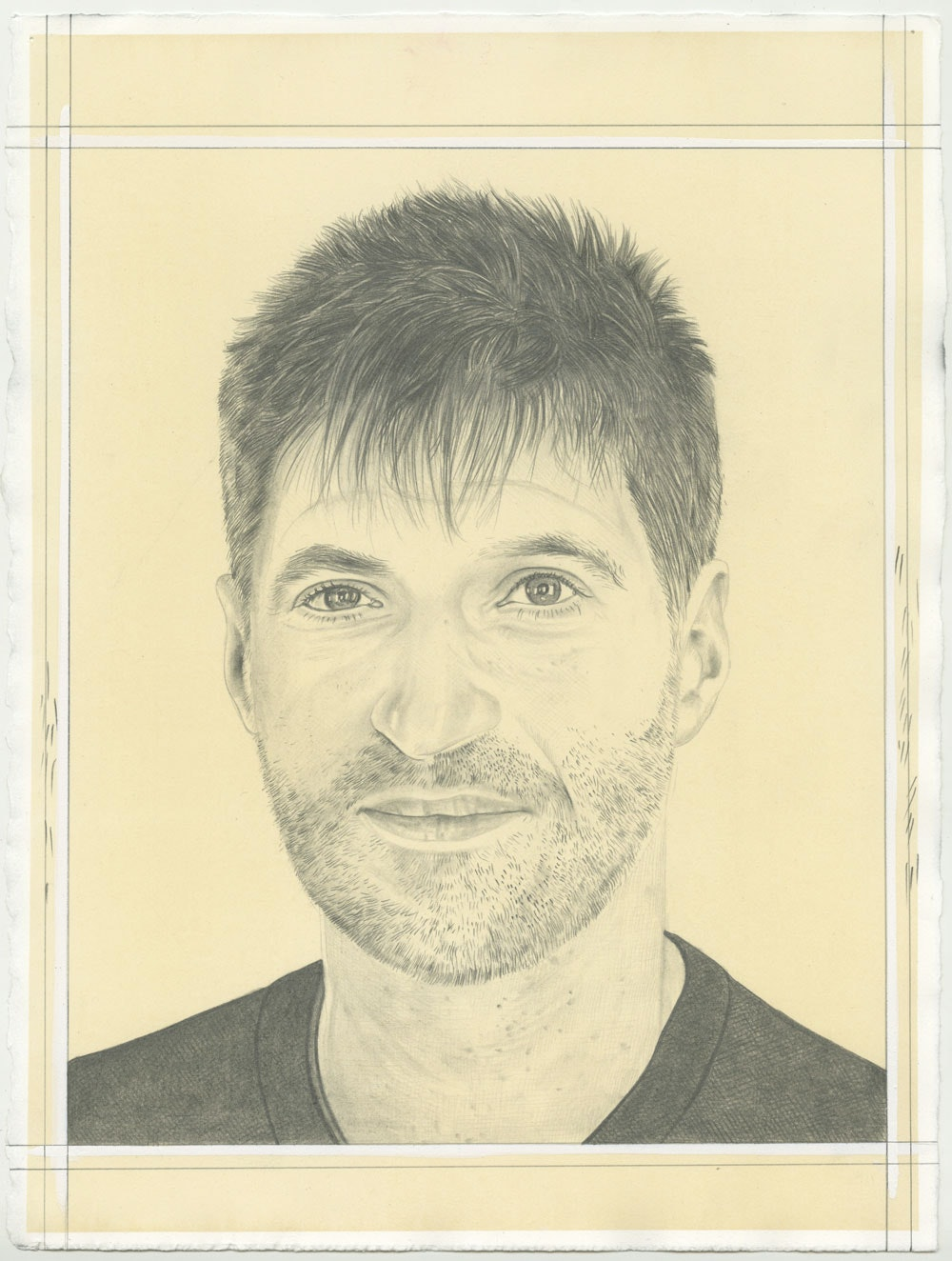 Portrait of James Prosek, pencil on paper by Phong H. Bui.