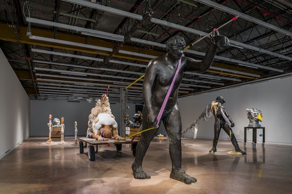 Nicole Eisenman, <em>Procession</em>, 2019–2020. Installation view, <em>Nicole Eisenman: Sturm und Drang</em>, The Contemporary Austin – Jones Center on Congress Avenue, 2020. Artwork © Nicole Eisenman. Courtesy the artist; Vielmetter Los Angeles; and Anton Kern Gallery, New York. Image courtesy The Contemporary Austin. Photo: Colin Doyle.