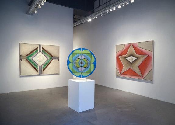 Installation view, <em>Ida Kohlmeyer: Cloistered</em>, Berry Campbell, New York, 2020. © Estate of Ida Kohlmeyer. Courtesy Berry Campbell, New York.