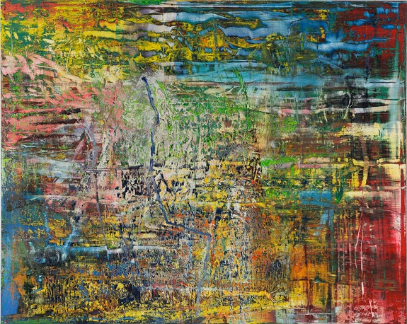 Gerhard Richter, <em>Abstract Painting</em>, 2016. Oil on canvas, 78 3/4 × 98 7/16 inches. Private Collection. © Gerhard Richter 2019.
