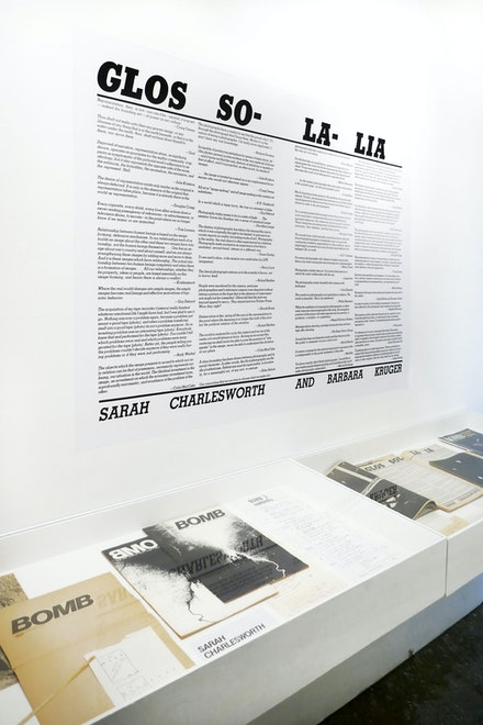 Installation view, <em>Sarah Charlesworth: Image Language</em>, Printed Matter, New York, 2020. Courtesy Printed Matter.