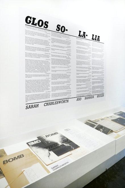 Installation view, <em>Sarah Charlesworth: Image Language</em>, Printed Matter, New York, 2020. Courtesy Printed Matter.