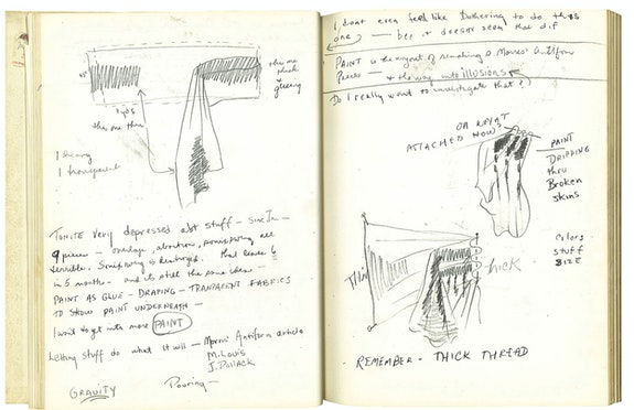 Pages from the Sketchbook of Rosemary Mayer, May-June1971. Courtesy of the Estate of Rosemary Mayer