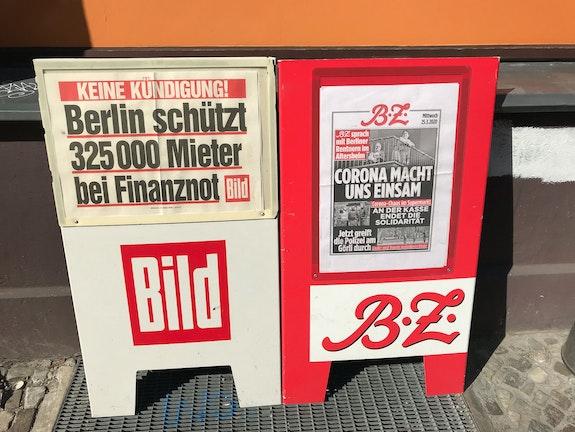 Berlin Shelters 325,000 Tenants in Financial Need/Corona Makes us Isolated. Photo: Jacob Blumenfeld.