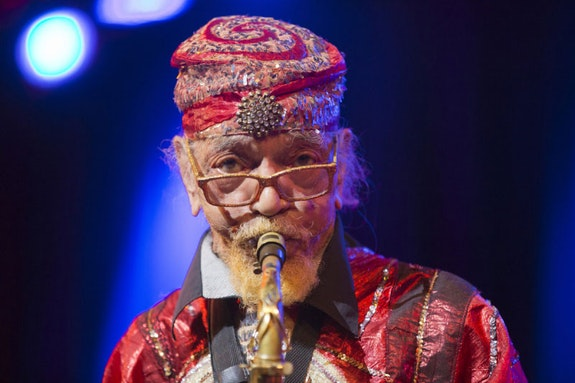 Marshall Allen at Town Hall. Photo: Alan Nahigian.