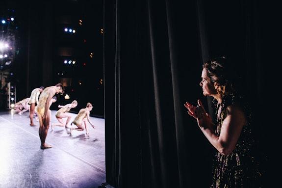 Backstage during <em>Bartók</em> Ballet by New York City Ballet. Photo: Nina Westerveldt.