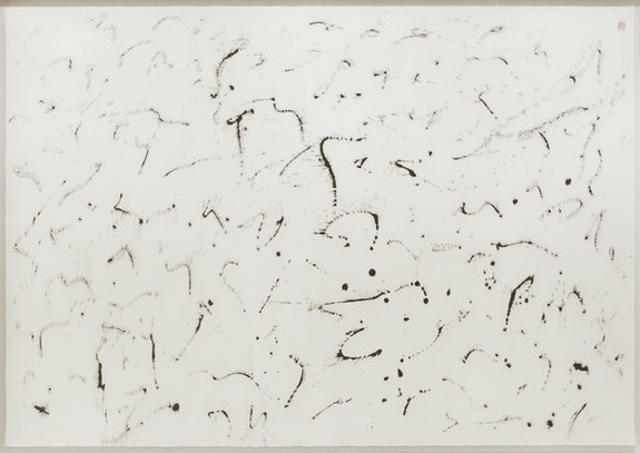 Minjung Kim, <em>Phasing</em>, 2017. Mixed media on mulberry Hanji paper, 57 x 81 1/2 inches. Courtesy the artist.