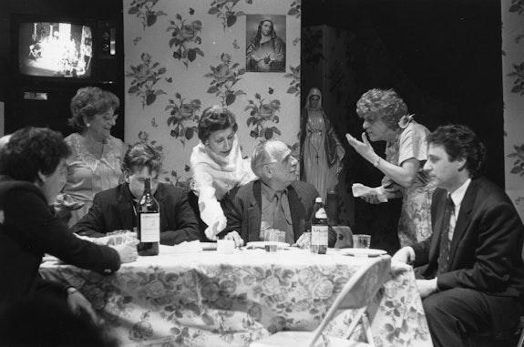 Performance of <i>La Miseria</i> at PS 122, New York, 1991. Photo by Dona Ann McAdams.
