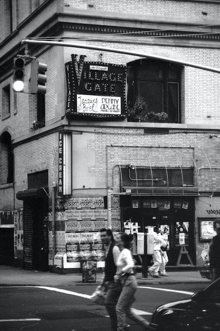 Landmarked Village Gate Sign, New York, 1995. Photo by Steve Zehentner.