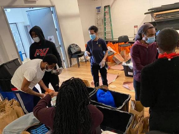 <em>We Keep Us Safe Abolitionist Network at work at JACK</em>. Courtesy of Alec Duffy. Photo: Brittany Williams.