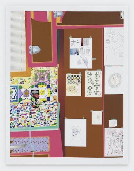 Michael Williams, <em>Truth Or Consequences</em>, 2020. Inkjet on canvas, 111 x 85 inches. © Michael Williams. Courtesy the artist and Gladstone Gallery, New York and Brussels.