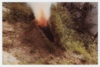 Ana Mendieta, <em>Volcán</em>, 1979. Color photograph, 8 x 10 inches. © The Estate of Ana Mendieta Collection, LLC. Courtesy Galerie Lelong & Co., New York. Licensed by Artists Rights Society (ARS), New York.