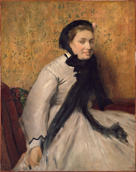 Edgar Degas, <em>Portrait of a Woman in Gray</em>, c.1865. Oil on canvas, 36 x 28 1/2 inches. The Metropolitan Museum of Art, New York.