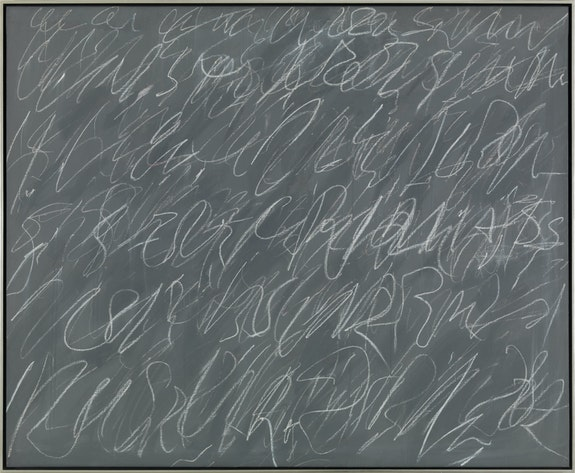 Cy Twombly, <em>Untitled</em> (New York City), 1970. Courtesy Gagosian. Photo: Robert McKeever. © Cy Twombly Foundation.