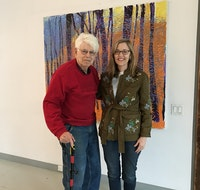 Wolf Kahn and Margaret Chace in his studio, April 2019.  Courtesy the author.