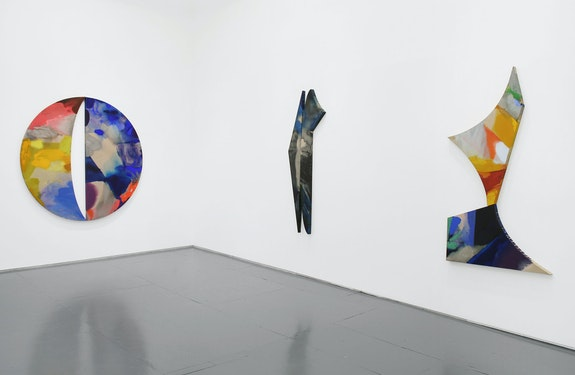 Installation view: <em>Pamela Jorden: Reflector</em>, Klaus Von Nichtssagend, New York, 2020. Courtesy the artist and Klaus von Nichtssagend Gallery.