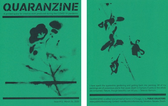 Quaranzine #12, artwork by Terence Hannum. Courtesy Public Collectors.