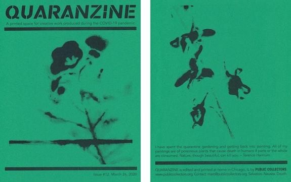 Quaranzine #12, artwork by Terence Hannum. Courtesy Public Collectors.