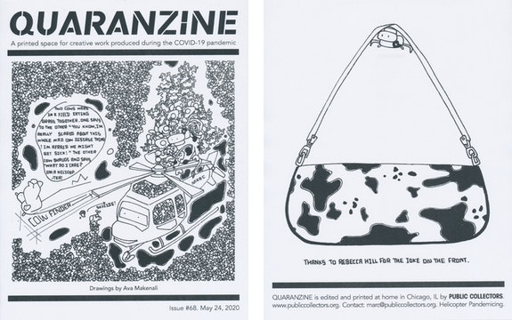 Quaranzine #68, artwork by Ava Makenali. Courtesy Public Collectors.