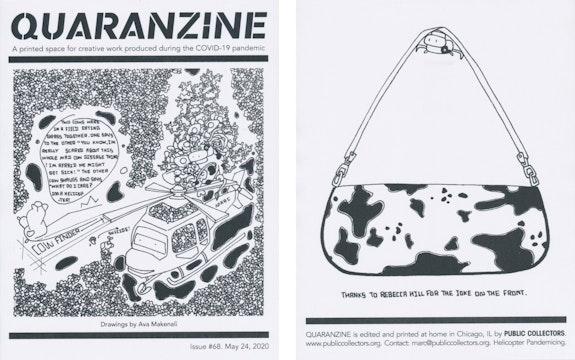 Quaranzine #68, artwork by Ava Makenali. Courtesy Public Collectors.