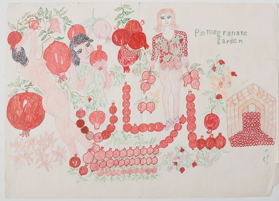 Reza Shafahi, Untitled, 2016. Ink and color pencil on paper. 36 x 28 inches. Courtesy the artist and Club Rhubarb.