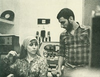 Fairuz with Ziad Rahbani. Photo courtesy of We Want Sounds.