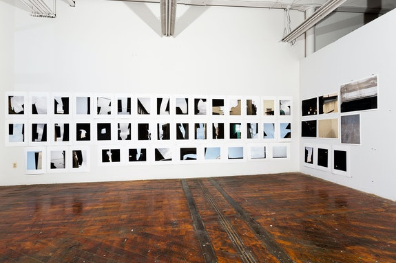 Jo Smail, <em>Looking At, Looking Up, Looking Down</em>, 2014. Studio installation view. Courtesy Goya Contemporary, Baltimore.
