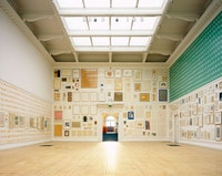 Installation view of John Armleder's exhibition <em>About Nothing. Works On Paper 1962 - 2007</em>, South London Gallery, 2007. Courtesy the artist and South London Gallery. Photo: Andy Stagg