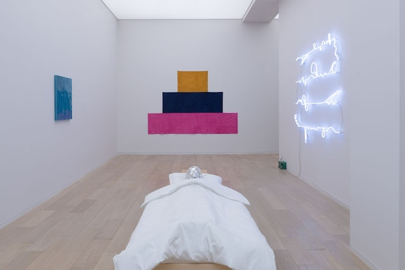 Exhibition view of Mai-Thu Perret, <em>Slow Wave</em>, 2014, Simon Lee Gallery, Hong-Kong. Courtesy the artist and Simon Lee Gallery, London, New York, Hong-Kong