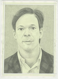 Portrait of Oliver Berggruen. Pencil on Paper by Phong H. Bui.