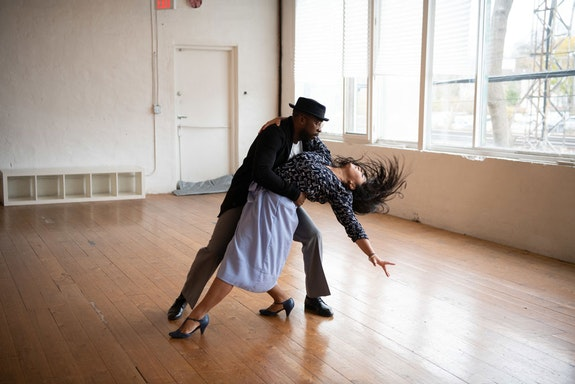 <em>Uprooted: The Journey of Jazz Dance.</em> Pictured: Hollywood Jade and Sarah Tumaliuan of Holla Jazz Co in Toronto. Photo: Daryl Getman