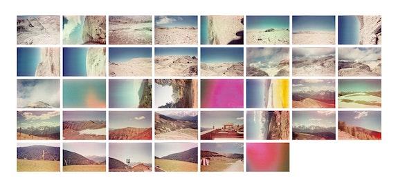 Maddalena Granziera, <em>Solaris</em>, 2017. 38 analog color photos, digital printing on photographic paper, 80 x 170 cm total, 13 x 19 cm each. Courtesy the artist.