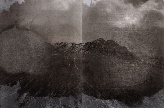Maddalena Granziera, <em>Non c'è niente di solido qui</em>, 2019. Analog photography, 2 b/n, laser printing on paper, vegetal solvent, 27 x 36 cm total, 27 x 18 cm each, ongoing series, fragment I. Courtesy the artist.